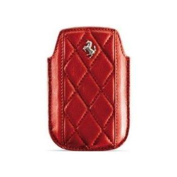 Ferrari Maranello kožené pouzdro pro iPhone, červené