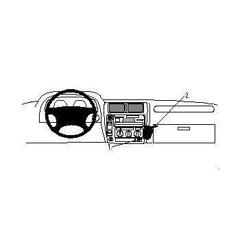 Brodit ProClip montážní konzole pro Toyota LandCruiser 90 97-02, na střed vpravo