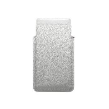 BlackBerry kožené pouzdro pro BlackBerry Z20/Leap, bílé
