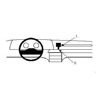 Brodit ProClip montážní konzole pro Ford Scorpio 86-91, na střed