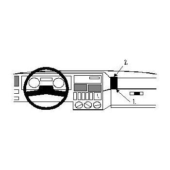 Brodit ProClip montážní konzole pro Renault 19 89-92, na střed