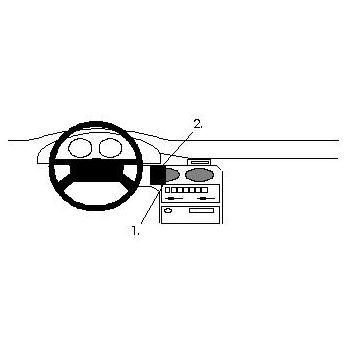 Brodit ProClip montážní konzole pro Mazda 626 92-97, na střed vlevo