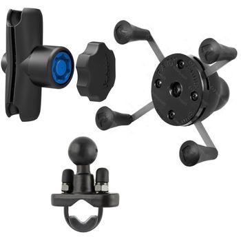 RAM Mounts univerzální držák na mobilní telefon s ramenem se zabezpečením na řídítka nebo tyč s objímkou pro Ø12,7-31,75 mm, X-Grip, sestava RAM-B-149Z-UN7B-KNOB3U