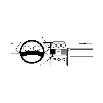 Brodit ProClip montážní konzole pro Mitsubishi Pajero/Mitsubishi Shogun 92-00, na střed