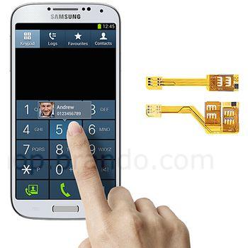 Dual SIM adapter Brando pro Samsung GALAXY S4 (2 SIM celkem)