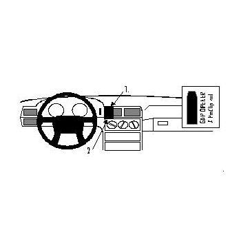 Brodit ProClip montážní konzole pro Volvo 850 92-97, na střed