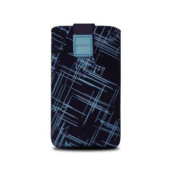 Fixed pouzdro Velvet s motivem Blue Stripes, velikost 3XL, modrá
