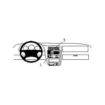Brodit ProClip montážní konzole pro Mazda 323 98-02, na střed