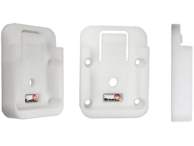 obsah balení Brodit sestava otočného montážního podstavce a MultiMove clipu, výška 215 mm, sklon 45°, bílý, (216637)