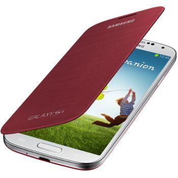 Samsung flipové pouzdro EF-FI950BR pro Galaxy S4 (i9505), červená