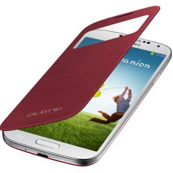Samsung flipové pouzdro S-view EF-CI950BR pro Galaxy S4 (i9505), červená