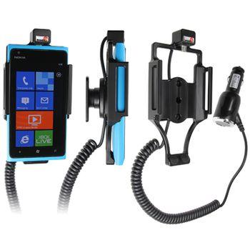 Brodit držák do auta na Nokia Lumia 900 bez pouzdra, s nabíjením z cig. zapalovače