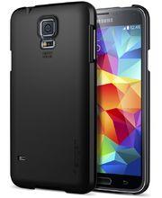 Spigen tenký kryt Ultra Fit Smooth black pro Samsung Galaxy S5, černá