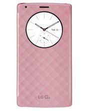 LG vyměnný kryt s flipem a bezdr nabíjením QuickCircle CFR-100 pro LG G4, růžový