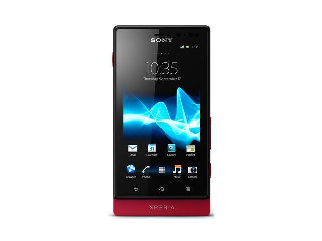 obsah balení Sony Xperia Sola červená + záložní zdroj Belkin 2000mAh
