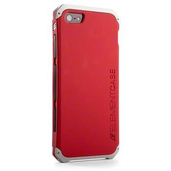 Element Case kryt Solace pro Apple iPhone 5/5S/SE, červená/stříbrná
