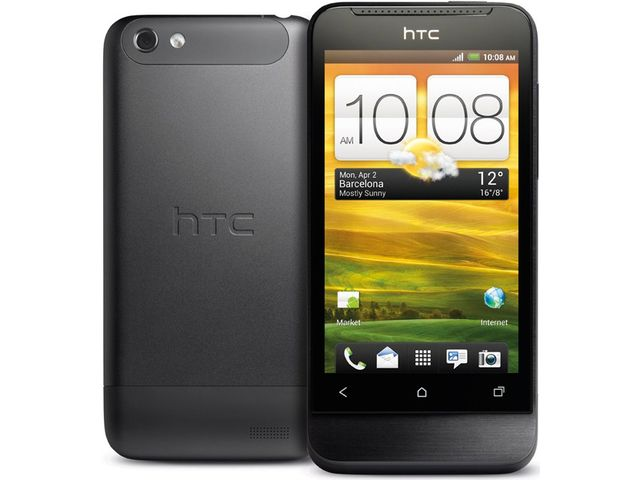 obsah balení HTC One V šedý + autonabíječka