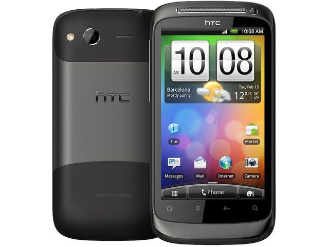 obsah balení HTC Desire S stříbrná + 32GB karta
