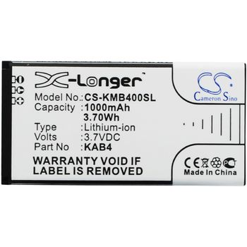 Baterie pro Kazam Life B4, 1000mAh, Li-ion