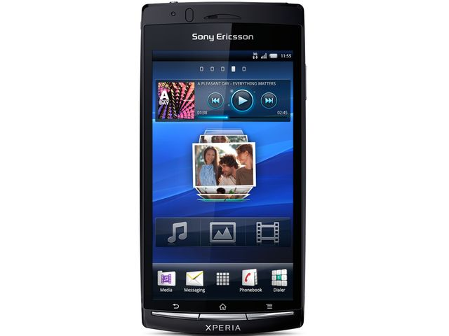obsah balení Sony Ericsson Xperia Arc S modrá + Prémiová fólie Krusell